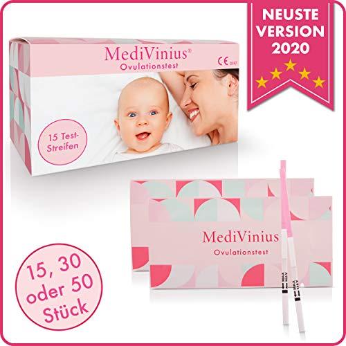 MediVinius® - Ovulationstest mit sicherem Ergebnis - Fruchtbarkeitstest für Frauen mit Kinderwunsch [25 MiU/ml] - einfache Anwendung (15)