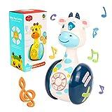 O-Kinee Juguetes Bebe 6 Meses Más, Jirafa De Dibujos Animados Juguete, Juguetes Musicales para Niños, Juguetes del Bebé, Juguete Educativo Temprano Regalos para Niños Niñas (Vacas)