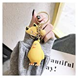Clhbaih Schlüsselanhänger Neue Kleinvögel Action Figuren Keychain Nette Modell Anhänger Dekorationen Freundin Geschenke Kreative Anime Accessorie (Color : Yellow)