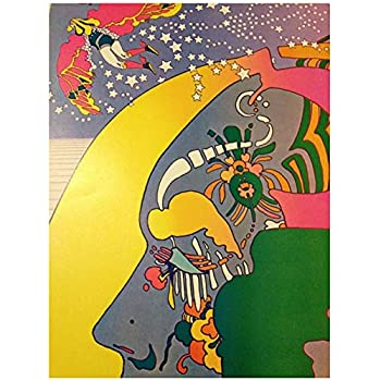 Rare Vintage Peter Max Nutriment Number Two Psychedelic Poster For living Room Home Decor Gift Artwork decoration Print On Canvas -60x80cm No Frame