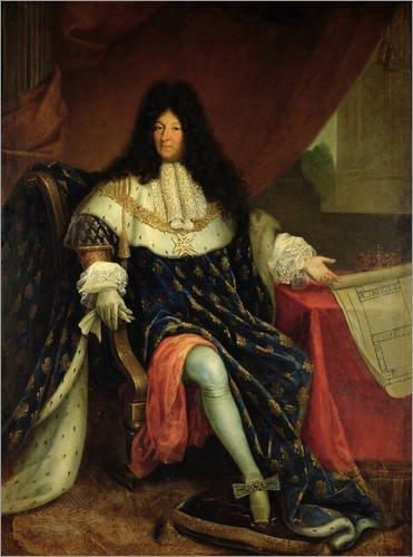 Poster 30 x 40 cm: Ludwig XIV. von French School/Bridgeman Images - hochwertiger Kunstdruck, neues Kunstposter