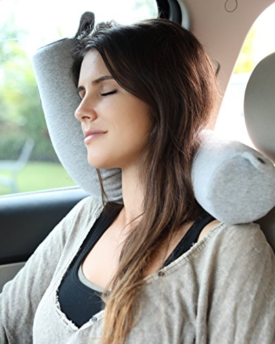 5104HYsAMGL - Twist Memory Foam Travel Pillow for Neck, Chin, Lumbar and Leg Support - For Traveling on Airplane, Bus, Train or at Home - Best for Side, Stomach and Back Sleepers - Adjustable, Bendable Roll Pillow