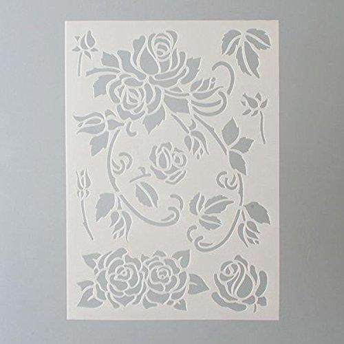 efco Rosen Schablone in 7Designs, Kunststoff, transparent, A5