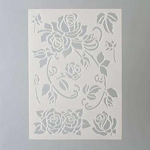 efco Rosen Schablone in 7 Designs, Kunststoff, transparent, A5
