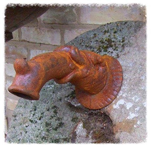Antikas - Wasserspeier, Brunnenauslauf, Fabelfisch f. Wandbrunnen, Auslauf