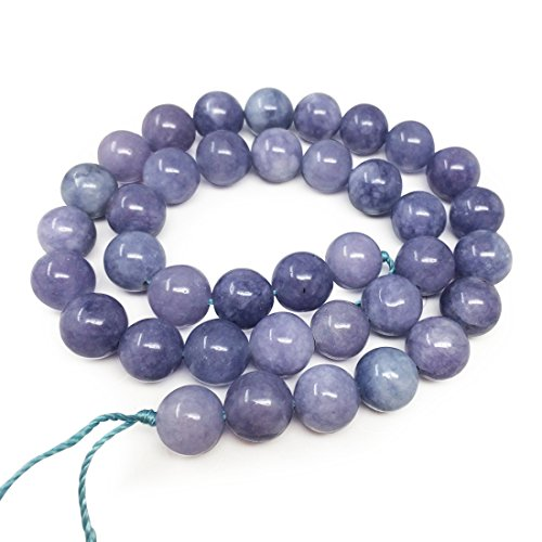 1 Strand Natural Opaque Tanzanite Quartz Gemsstone 6mm (0.24 Inch) Round Loose Stone Beads (~ 58-62pcs total) for Jewelry Craft Making GH1-6