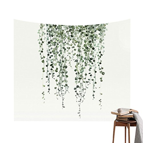 ZhiYuanAN Blatt Druck Tapisserie Wandbehang Home Dekorationen Tuch Grüne Pflanzen Picknick Yoga Strandtuch Boho Wandteppich