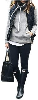Howely Womens Overcoat Cargo Pocket Winter Warm Casual Packable Vest