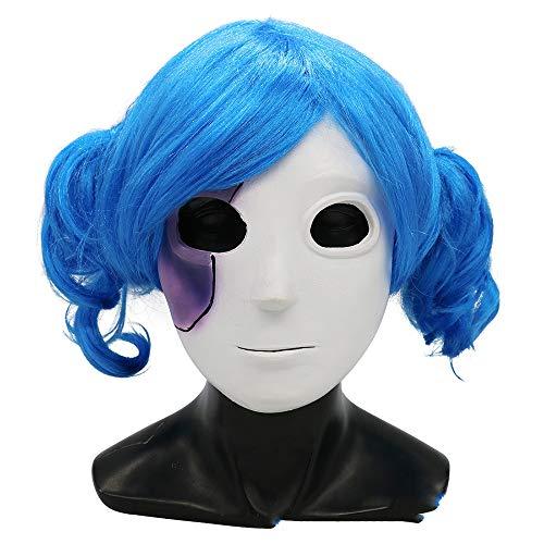 LJJY Maske Halloween Kleid Ball Maskenset Sally Face Verspielte Gesichtsfrisur + Maske Zweiteilige Rollenspiel-Make-up-Party
