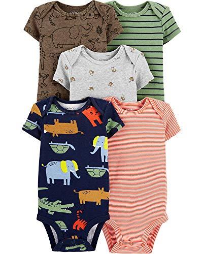 Carter's Baby Boys 5-Pack Original Short Sleeve Bodysuits