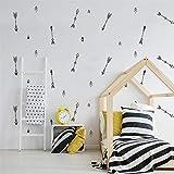 PISKLIU Wandsticker Wandfiguren Pfeil Wandaufkleber Für Kinderzimmer Baby Mädchen Zimmer