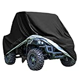 XYZCTEM UTV Cover with Heavy Duty Black Oxford Waterproof Material, 114.17' x 59.06' x 74.80' (290 150 190cm) Included Storage Bag. Protects UTV from Rain, Hail, Dust, Snow, Sleet, and Sun (XL)