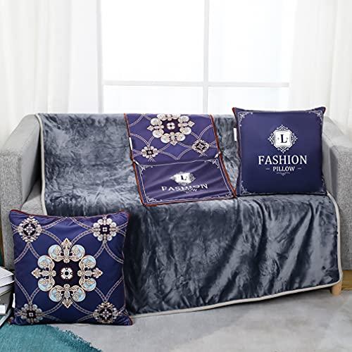 LGNB 2 piezas de almohada multifuncionales de doble uso, cojín de apoyo de almohada portátil suave y cálida para sofá cama, silla de oficina (Y-17, 35 x 35 cm)