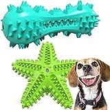 Juguete Masticable y Molar para Perros Juguete Interactivo Perro TPR Seguro y Duradero Juguete Perro Masticar con Sonido 2 PCS