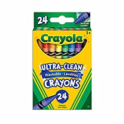 Washable crayons for easy clean up