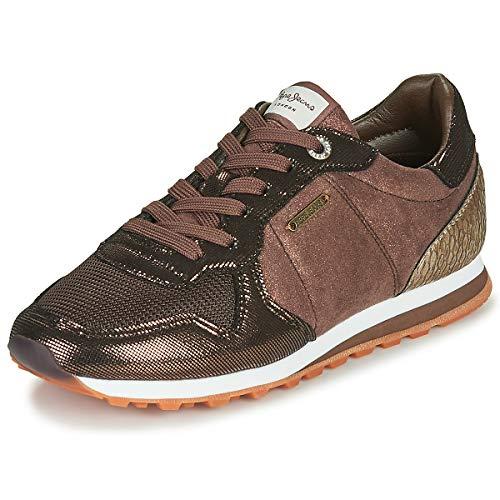 Pepe Jeans London Womens Verona W TOP Sneaker, 887DARK Mocca, 36 EU