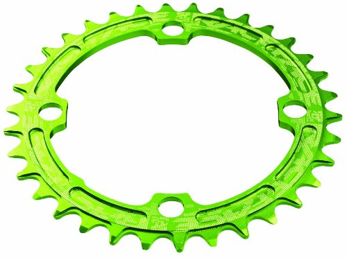 RaceFace 104mm Single Chain Ring, Green, 30T 9/10/11 Speed