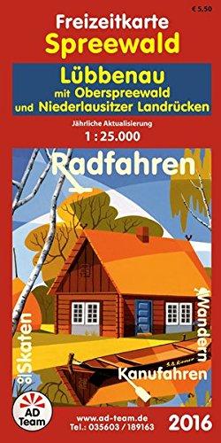 Freizeitkarte Spreewald Lübbenau (Ausgabe 2016): mit Oberspreewald und Niederlausitzer Landrücken 1:25.000