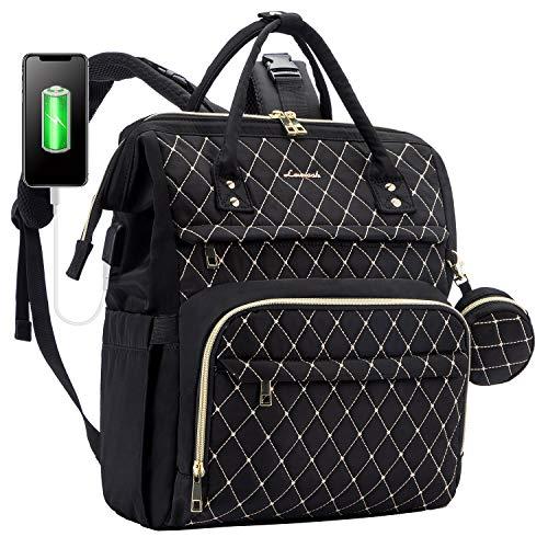 Wickelrucksack Baby Wickeltasche Rucksack Groß, Windeltasche Babytasche Für Unterwegs Mit 15,6 Zoll Laptopfach, USB-Ladeanschluss, Schnullerhalter Und Kinderwagengurte, Schwarz B
