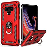 LUMARKE Galaxy Note 9 Case,Pass 16ft Drop Test Military Grade Heavy Duty Cover with Magnetic Kickstand Compatible with Car Mount Holder,Protective Phone Case for Samsung Galaxy Note 9 Red