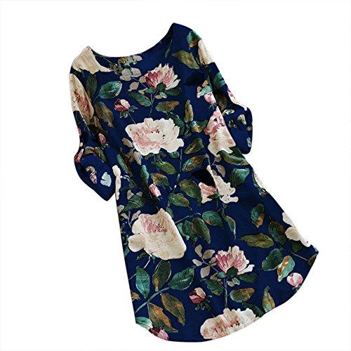 manadlian Mini Robe Femme Eté 2020 Chic Robe de Soirée Coton Manches Courtes Ample Robe de Plage Femme Casual Robes Grande Taille Dress Robe Dames Plage