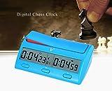 CFtrum Multifuncional Profesional Digital Reloj de Ajedrez, Contador de Tiempo / Temporizador de Cuenta Atrás / Cuenta Regresiva, Reloj Electrónico de Competición de Juegos de Mesa