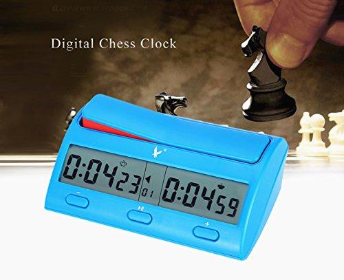 Joyeee Professioneller Elektronisch Brettspiel Wettbewerb Uhr Schachuhr Zeitgeber, Digital Schachtimer Chess Clock Count Up Down Uhr Timer für Board Schach Spiel Zuhause & Turniere
