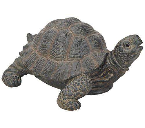 Dehner Dekofigur Schildkröte, ca. 23.5 x 17.7 x 11.2 cm, Polyresin, grau