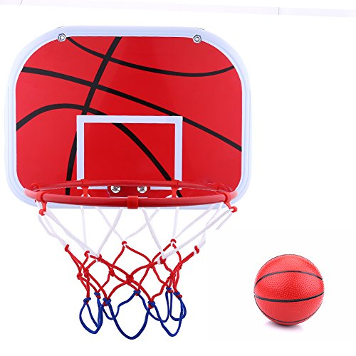 Alomejor Mini Basketball Korb Mini Basketball Netball Hoop Set mit Ball und Pumpe für Office-Spiel Kinder Kinder Spiel Indoor