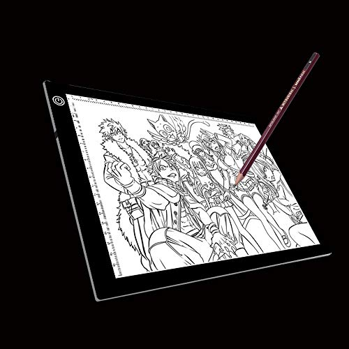 Tablero de escritura Tamaño A4 5W 5V LED Tres niveles de brillo Tableros de copia de acrílico regulables for Anime Sketch Drawing Sketchpad, con cable USB y enchufe, Tamaño: 270x360x5mm regalo de los