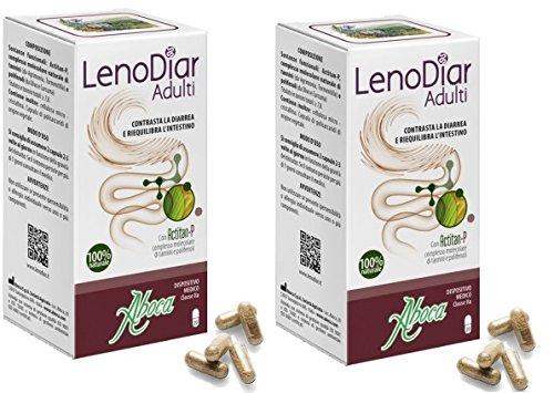 ABOCA LENODIAR ADULTOS - Contrastes la diarrea y los saldos l'intestino , 2 paquetes de 20 cápsulas