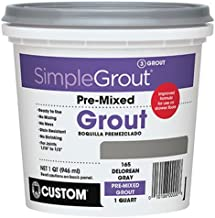 Custom PMG381QT 1-Quart Simple Premium Grout, Bright White