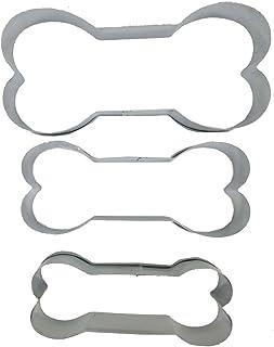 NANHONG Bone Cookie Cutters-Stainless Acero Set de 3