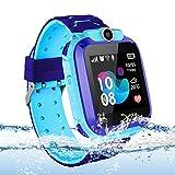 Vannico Localizador GPS Niños, Reloj GPS Niños Localizador Con SOS Anti-Lost Alarm Para Tarjeta Pantalla Táctil Smartwatch Para 3-12 Años De Edad Regalo De Cumpleaños Niños Niñas(Blue)