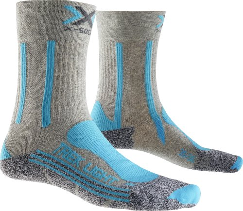 X-SOCKS Light Lady Chaussette Trekking Femme, Gris Clair, FR Taille Fabricant : XL(41-42)