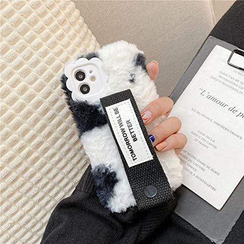 FYMIJJ Funda de teléfono Suave de muñeca de Punto de Felpa de Invierno para iPhone 12 Pro MAX 12 Mini 11 Pro MAX X XS XR 7 8 Plus SE 20 Funda, 1, para iPhone XS