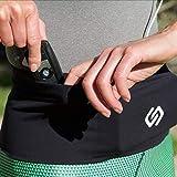 Sporteer Unisex Waist Pack, Running Belt, Gym Workout Fanny Pack, Travel Money Belt - Fits All Smartphones/Cases - Easy Access Top-Loading Design (Small)