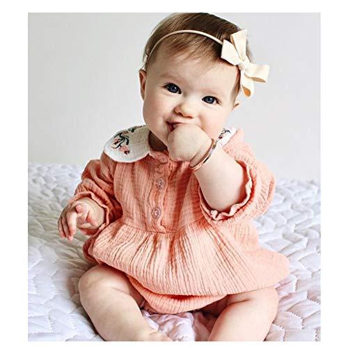 Vivitoch Grenouillère d'hiver à manches longues pour bébé fille et garçon 0-2 ans 73 rose