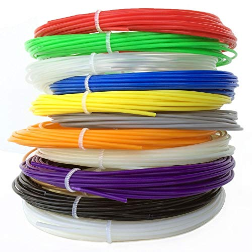 weishenghulian 3D Stift Filament Farben Zufällige 3D Stifte Glühfaden für 3D Stiften und 3D Drucker Stift 3D Pen Kinder PLA/ABS/PCL 1.75mm Sicher und Umweltfreundlich Ungiftig