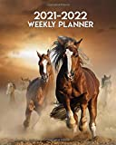 2021-2022 Weekly Planner: Wild Horses Galloping Two Year Calendar Agenda Organizer: 24 Months Weekly Planner with Vision Boards Notes To-Do's