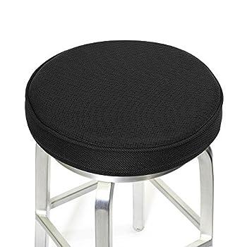 Bar Stool Cushions,Memory Foam Bar Stool Covers Round Cushion with Non-Slip Backing and Elastic Band by Shinnwa 14  Black