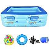 YUANZHU Swim Center Aquarium Inflatable Pool, Baby Swimming Pool Lounge Ground Ground Pool Outdoor Outdoor Family Pool Adultos y niños