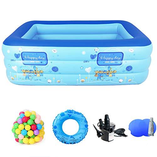 YUANZHU Swim Center Aquarium Inflatable Pool, Baby Swimming Pool Lounge Ground Ground Pool Outdoor Outdoor Family Pool Adultos y niños