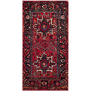 Safavieh Vintage Hamadan Collection VTH211A Oriental Traditional Persian Non-Shedding Stain Resistant Living Room Bedroom Area Rug, 2'7″ x 5′, Red / Multi