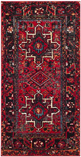 Safavieh Vintage Hamadan Collection VTH211A Antiqued Oriental Red and Multi Area Rug (2'7' x 5')