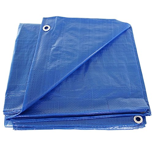 Comfitwear MT-812 8' x 12' Poly Tarp Cover, Waterproof Tent Shelter Camping RV Boat Tarpaulin, Blue