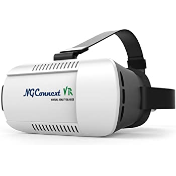 NGConnext VR-45 3D Virtual Reality Glasses/Headset VR BOX MODIFIED RESIN LENSES for FOV of 105° for Samsung, Apple iPhone, Lenovo, Xiaomi, Sony, HTC, Huawei, Micromax Smartphones - Inspired by Google Cardboard, Gear & Oculus Rift