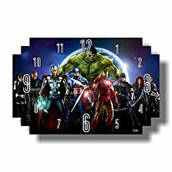 Art time production The Avengers 17 x 11 Handmade Wall Clock - Get Unique décor for Home or Office – Best Gift Ideas for Kids, Friends, Parents and Your Soul Mates