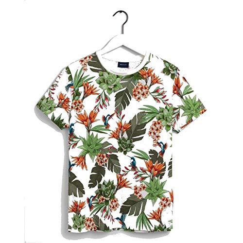 GANT D2. Humming Garden SS T-Shirt Camiseta, Fuente de Huevo, S para Hombre