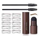 Kit de sellos de cejas, ajustables, impermeables, definidor de modelado con plantillas de cejas, herramientas de maquillaje para mujeres (marrón claro)